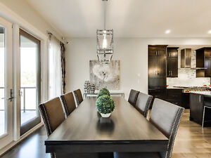 DINING ROOM TABLE AND 6 CHAIRS - SHOWHOME FURNITURE