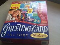 Greeting Card Factory Delux 3. New. Make your own greeting cards.