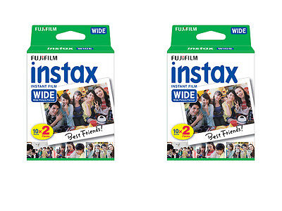 40 Prints Fuji Instant Wide Instax Film for Fujifilm 200, 210, 300 Camera 3/2020