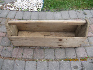 Vintage Carpenters/Plumbers Wooden Carry Style ToolBox 1950-60s