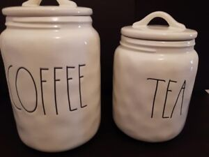 Rae Dunn Coffee and Tea Canisters