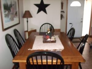 TABLE & 6 CHAIRS PLUS CHINA CABINET & HUTCH