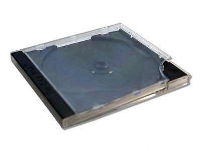 100 x CD Hüllen Jewel Case Leerhüllen Hartplastik Hülle BOX Schwarz - Premium