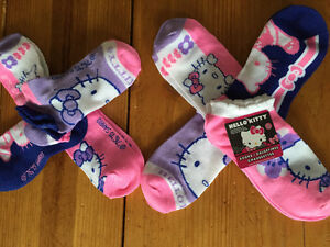 New! Hello Kitty 4 pack no show socks (size 10-13 shoes)