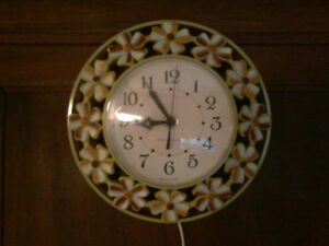 """""""Blossom Time"""" Electric Kitchen Clock ($12.95 sale Cdn made)"""