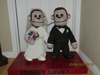 Bride & Groom Monkeys