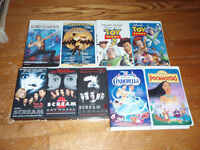 assorted VHS movies
