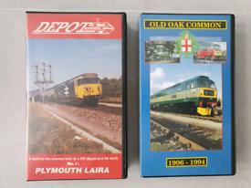 Railway maintenance depot VHS videos x 2