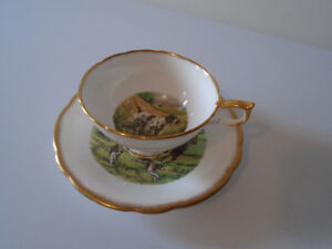 VINTAGE SALISBURY TEA CUP AND SAUCER
