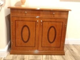 High Gloss Quality Yew Cabinet