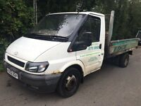 2002 transit tipper no mot runs drives ideal export