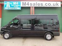 Ford Transit 135ps,14st minibus,fsh. Rare Black