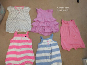 18 month girl summer clothes (Carter's outfits)