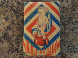 Vintage Toy 1950's Carnival Fair Prize Bubbling Baby Peeing Boy