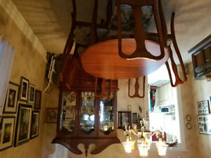 dining room hutch,table and chairs