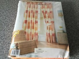 Curtains, fully lined