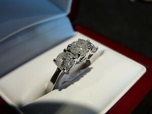 2.13ct 14K White Gold Trinity Diamond Ring, Reg. $7000 London Ontario image 2