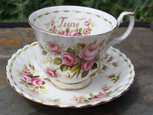 ROYAL ALBERT JUNE Flower of the Month Cup and Saucer EC London Ontario image 1