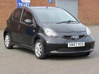 2007/57 Toyota aygo 1.0 5 door, 12 months mot, service history, only 90000 miles