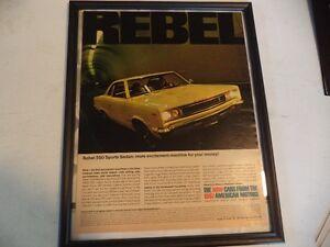 OLD AMC CLASSIC CAR FRAMED ADS
