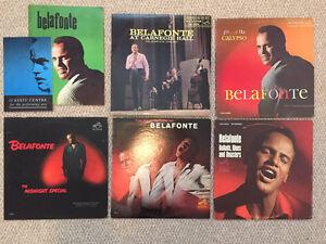 Belafonte LP records and souvenir booklets