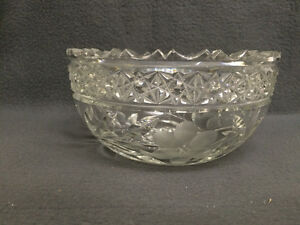 Collectible Antique Heavy Crystal Bowl London Ontario image 1