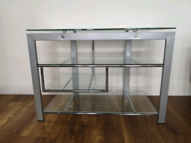 Side console/Entertainment table/TV stand with shelves