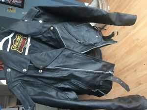 Ladies size 38 motorcycle jacket and chaps