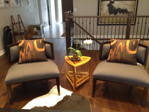 STUNNING ACCENT CHAIRS ...(MOVING SALE)