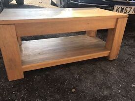 Solid oak wood coffee table very study
