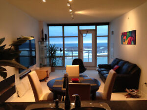 A 750sq luxury furnished condo high floor beautifil lake view