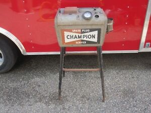 Champion  Spark  Plug  Cleaner  Cabinet  Stand