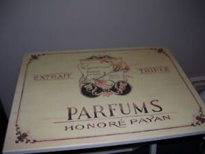 French Perfume Themed Folding Table