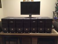 7 Dell computers towers and 1 Dell Monitor