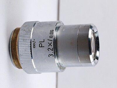 Leitz Pl 3.2x .06 Infinity Microscope Objective