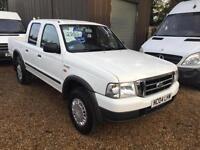FORD RANGER DOUBLE CAB 4X4 2.5TD, air con, White, Manual, Diesel, 2004