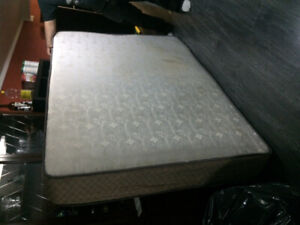 FREE DOUBLE MATTRESS/BOX SPRING/BASE to go ASAP... NO BED BUGS!!