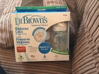 Brand New Dr Brown Baby Bottles Starter Kit