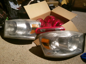Head and tail lights for a 2007 dodge ram
