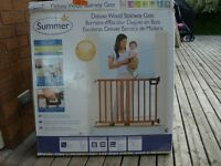 Summer Infant™ Stylish & Secure™ Deluxe Wood Stairway Gate
