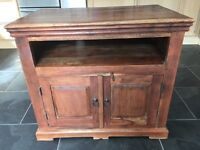 Solid dark wooden tv unit / side board
