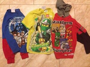 $5 for ALL!Ninjago,Star Wars Size 4 Shirts. Spider Man size 4/5.