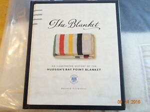 AUTHENTIC HUDSON BAY COMPANY 6 POINT MULTI STRIPED WOOL BLANKET