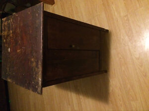 Antique dunsheath numbered music cabinet all original
