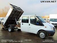 2010 FORD TRANSIT CREW CAB, TIPPER, DROPSIDE, TAIL LIFT, FULL HISTORY, ONE OWNER
