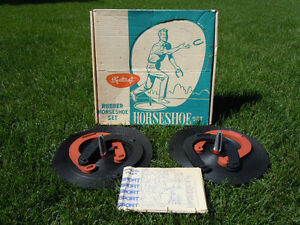 Vintage Sportcraft Rubber Horsehoe Set, Model 08023