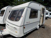 Swift Cappuccino 1993 2 Berth End Kitchen Lightweight & Compact Touring Caravan