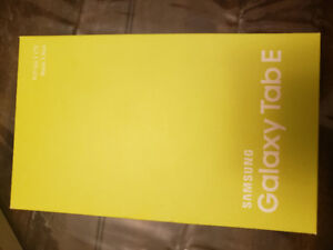 Galaxy Tabe E sealed in box never opened