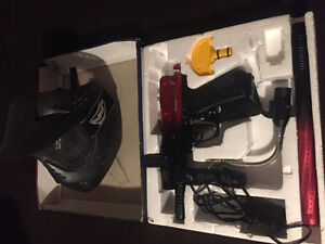 New spyder paintball electronic marker n mask