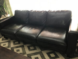 Leather Couch from Urban Barn $250